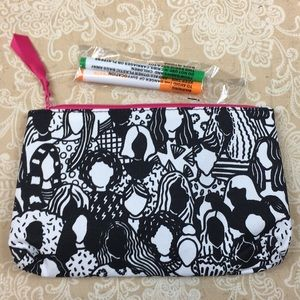 Ipsy Draw in Faces Cosmetic Bag